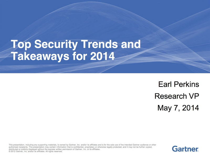 gartner 2014年信息安全趋势与总结图片