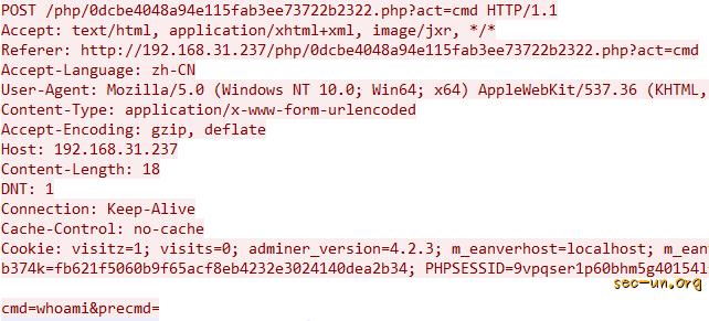 Webshell安全检测篇(4)-基于流量的Webshell分析样例 - 第11张  | Sec-UN 安全圈